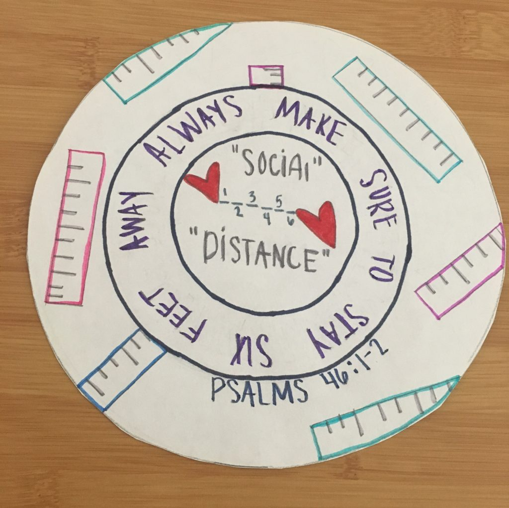 Decorative circle with words